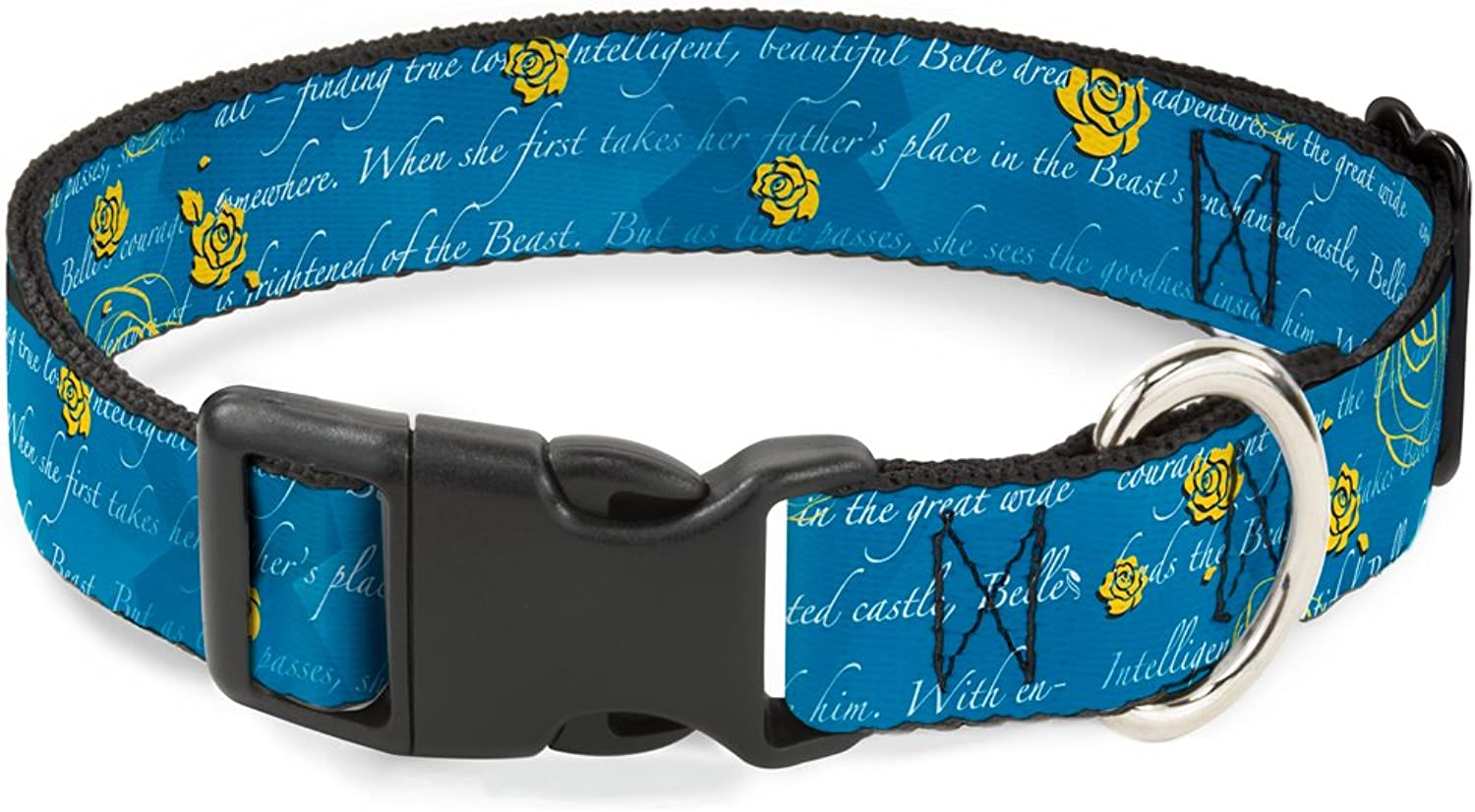 BuckleDown PCWDY045M Dog Collar Plastic Clip Buckle, 1 x1117 , Beauty & The Beast Story Script