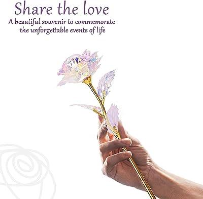 24K Rosa, Regalo Festa della Mamma Idee Regalo, Regali Donna Placcata con Oro 24K Fiore Le Rose per San Valentino, Compleanno, Festa della Mamma, Anniversario, Matrimonio