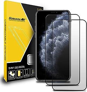 GOBUKEE [2枚] iPhone11 Pro max/iPhone XS Max ガラスフィルム 保護フィルム [フルカバレッジ] 強化ガラス スクリーンプロテクター [ ケースに干渉せず ] タッチ感度良好 高透過率 高硬度 9H 傷防...
