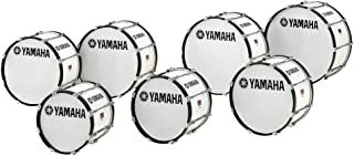 Yamaha Power-Lite Marching Bass Drum White Wrap 22x13