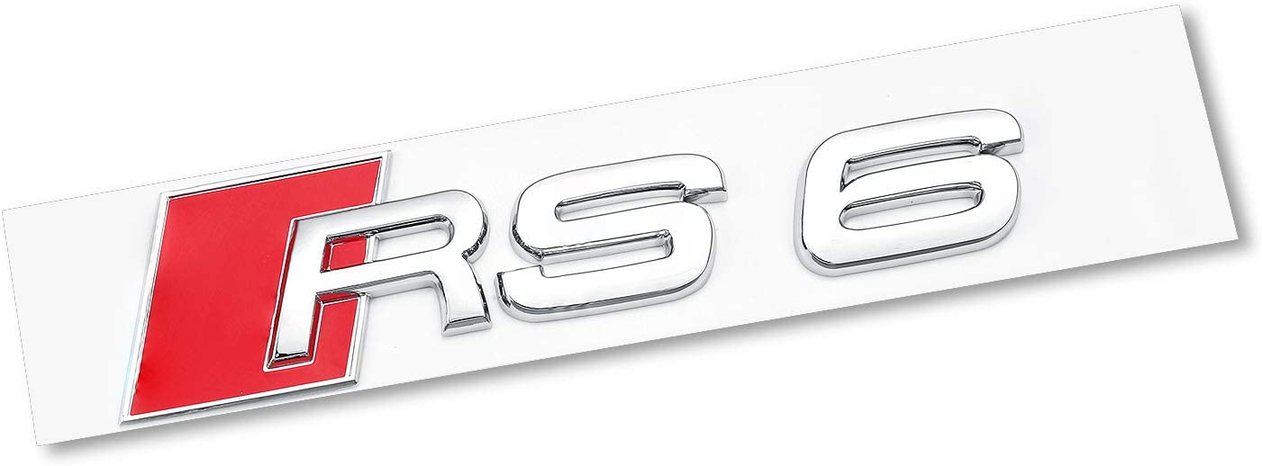 A5 Silver AUTO-P Fit for Audi A5 Luggage Lid Adhesive Logo Sign Sport 3D ABS Plating Emblem Badge Sticker Decoration