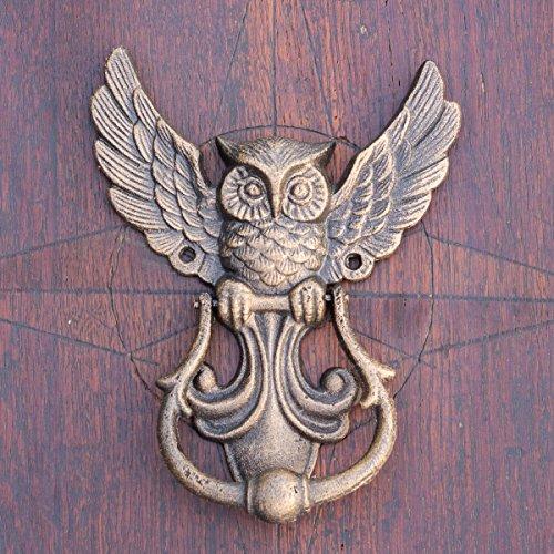 Antikas | Türklopfer | Klopfer mit Eulen-Design | Gusseisen Türbeschlag | wie Antik
