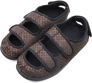 男式超宽可调节拖鞋,*和*拖鞋漩涡脚步行鞋室内/室外矫正凉鞋