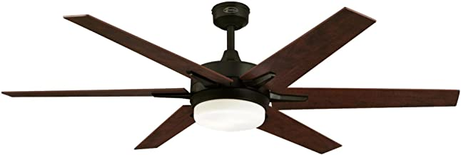 Westinghouse Lighting Remote Control Included 7207800 Cayuga 60-inch Oil Rubbed Bronze Indoor Ceiling Fan, Dimmable LED Light Kit with Opal Frosted Glass,