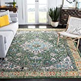 Safavieh Madison Collection MAD474Y Boho Distressed Medallion Non-Shedding Stain Resistant Living Room Bedroom Area Rug, 8' x 10', Green / Turquoise