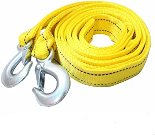 AIJIWU Car Tow Rope Straps with Hooks-5 Tons 4 Meters(13.12ft) with Vehicle Storage Bag High Strength Emergency Towing Rop...
