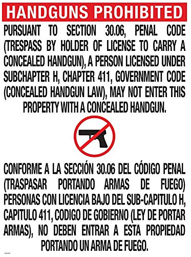 National Marker Corp. TOC-1 Texas Open Carry 30.06 Poster, 24 Inch X 18 Inch