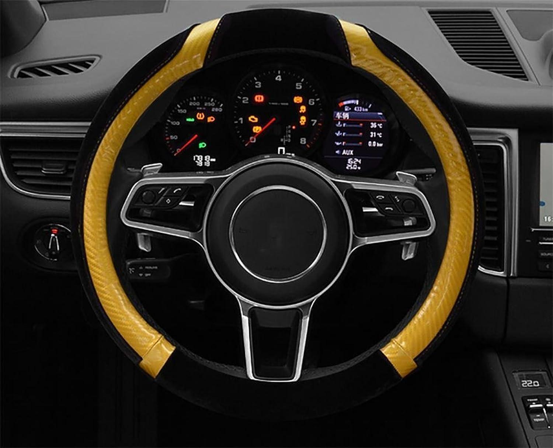 HSDMWJD Autolenkradabdeckung Universal Anti Rutsch Lenkradschutz Lenkradschoner Auto Veloursleder Lenkradbezug, warme Hnde im Winter