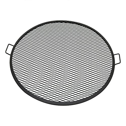 Sunnydaze X-Marks Fire Pit Cooking Grate - Outdoor Round Campfire BBQ Rack - Campfire Cooking Grill - Portable Outside Camping Cookware - Heavy-Duty Steel Construction - 36-Inch