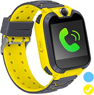 Kids Smart Watch for Kids SmartWatch with 1.54 Inch IPX5 Waterproof Color HD Display Touch Screen Digital Camera Game Music Learning Toys Call Watch 3-12 Ages Boy Girl Best Birthday Gift