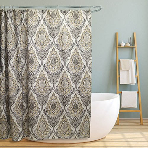 Linen Store Fabric Canvas Shower Curtain, 70