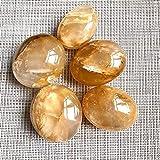 KUYIN Decorazione Naturale Pietre Naturali Quartz Quarzo Minerali Gemstones Guarigione Cristalli Massaggio Palm Gems Reiki Decorazione della casa (Color : Golden Healer, Size : 40-60mm)