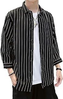[エスアンドワイ] 4カラー ストライプシャツ カジュアル おしゃれ 韓国ファッション 秋 メンズ M~2XL
