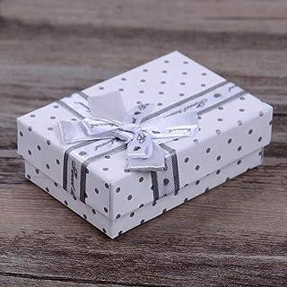 Mixte Boîte à Bijoux avec Noeud Cadeau Écrin Rangement Fête