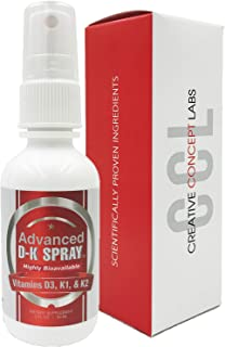 Advanced Vitamin D3 & K2 Spray-Most Effective Delivery with Nano Technology Provides Instant Absorption. More Effective Th...