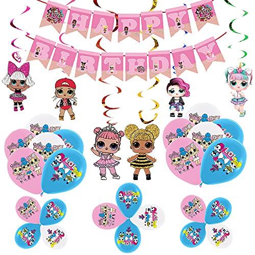 Palloncini Compleanno Lol Palloncino Lol Surprise Striscioni Buon Compleanno Lol Decorazione Turbinii Lol Surprise Palloncini Festa di Compleanno di Lol