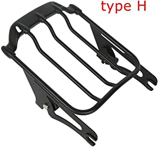Motorcycle Sissy Bar Backrest Luggage Rack Docking Kit For Harley Touring Road King Road Street Glide FLHX 14-19 (Type H)