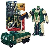 Hasbro Year 2013 Transformers Movie Series 4 'Age of Extinction' Power Attacker 5-1/2 Inch Tall Robot Action Figure - AUTOBOT HOUND with Quick Draw Action (Vehicle Mode: Oshkosh Defense Medium Tactical Vehicle)
