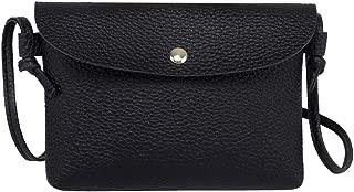 Waymine Women's Leather Crossbody Bag Pure Color Square Shoulder Bags Messenger Bag Flap Coin Phone Bag