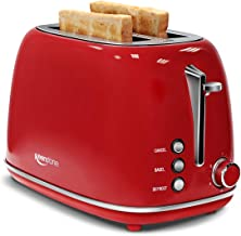 Keenstone Retro 2 Slice Toaster Stainless Steel Toaster with Bagel, Cancel, Defrost..