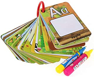 Best Coolplay A-Z 26 Alphabet Water Cards, Children Drawing Card for Kids Educational Toys for Travel Review