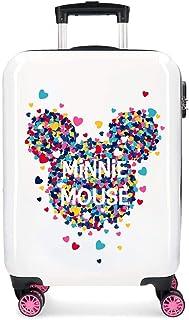 Disney Minnie Magic Valise Trolley Cabine Blanc 37x55x20 cms Rigide ABS Serrure à combinaison 33L 2,8Kgs 4 roues doubles B...