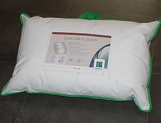 Cinelli Comfort Oreiller 95% duvet, 5% plumes, coussin 1000g, hypoallergénique, respirant et lavable
