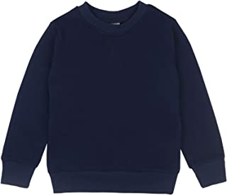 Youth Basic Sport Crewneck Pullover Sweatshirts for Children(3-12 Years)