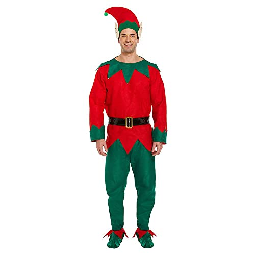 Adult Mens Elf Costume - Elf Outfit: Amazon.co.uk