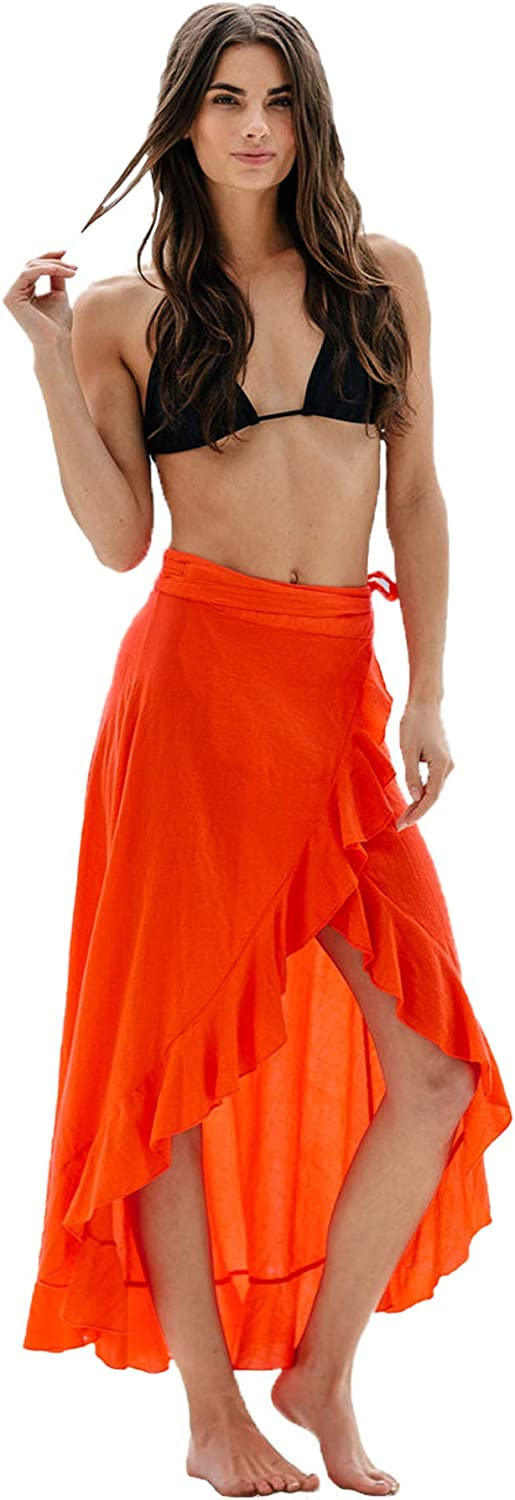 9Seeds - Solana wrap Skirt Dahlia in Red Color | 100% Cotton Fabric Material for Women.