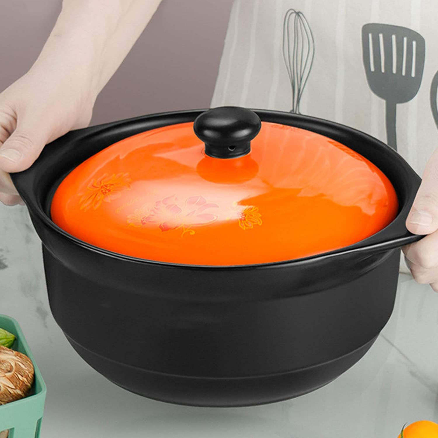 ZCME-power Ceramic Stock Pot NEW with Casserole Ranking TOP2 Lid