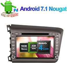 Flynavigo Android 7.1 Quad Core Car Stereo CD DVD Player In Dash Car Radio Head Unit with 8