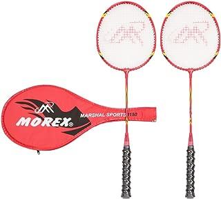 Morex Koncon Aluminium-Alloy Badminton Racquet and Bag (60 x 10 x 10 cm, Red)