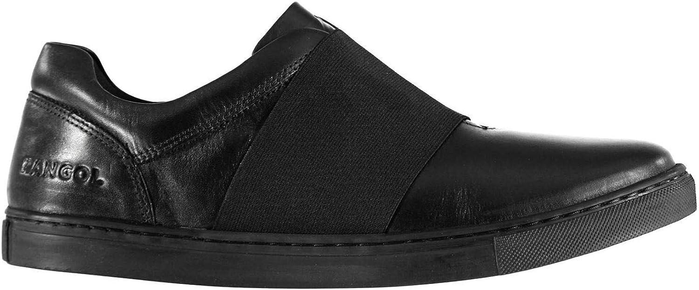 Kangol Latham Slip On shoes Mens Black Loafers Flats Formal Footwear