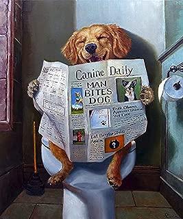 Dog Gone Funny Lucia Heffernan Animal Humor Newspaper Novelty Poster (Choose Size, Print or Canvas)