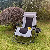 VICLLAX Outdoor Zero Gravity Lounge Chair,XXL Size Padded Folding Recliners