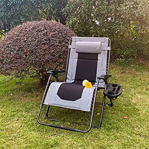 Zero Gravity Lounge Chair, XXL Padded Patio Folding Recliners