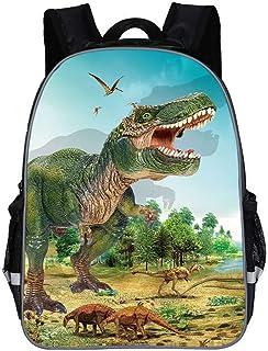 Mochilas Dinosaurio Jurassic World, 3D Mochila Escuela de Dinosaurios Mochila Escolar niño para Regalo de la Escuela