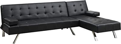 Amazon.com: Hebel Shelton Convertible Sectional Sofa Bed ...