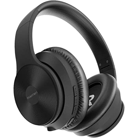 bopmen S40 Active Noise Cancelling Bluetooth Headphones - Wireless ANC Over Ear Headphones, Stereo Sound Headphones with Comfortable Protein Earpads, Built-in Microphone for Airplane/Travel/Work/Home