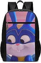 LeoBird Brave Rabbit Unisex Black Backpacks 17 Inch Tablet PC Backpacks With Large Capacity For Travel