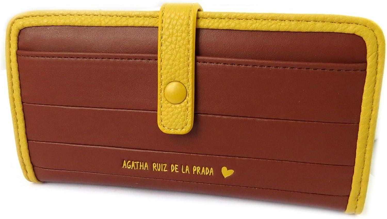 Agatha Ruiz de la Prada [N8686]  Wallet 'Agatha Ruiz De La Prada' brown (m) 17.5x9x4 cm (6.89''x3.54''x1.57'').