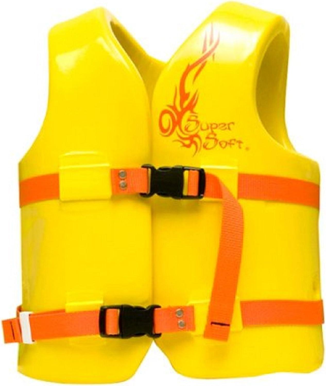 TRC Recreation Kid's Super Soft Vinyl Vest, Yellow, XSmall