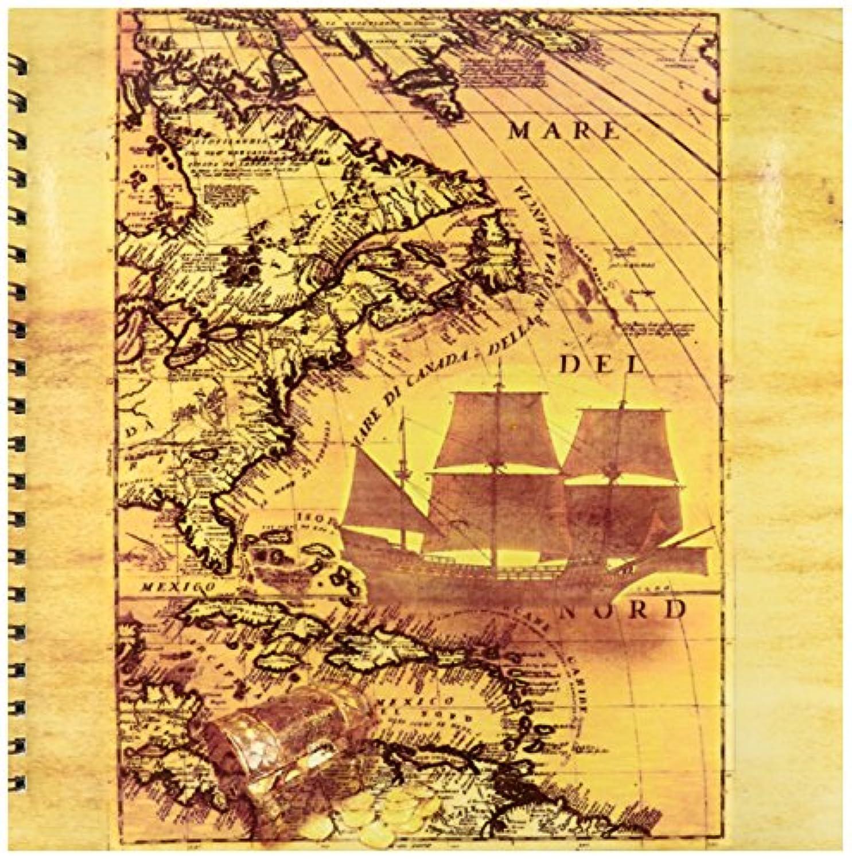 3dRose db_20905_2 Treasure Map Memory Book, 12 by 12-Inch