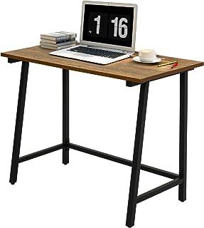 Meerveil Bureau Informatique Bureau d'ordinateur Table de Travail PC Meuble de Bureau Style Vintage Adapté à Domicile, Tab...