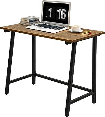 Meerveil Bureau Informatique Bureau d'ordinateur Table de Travail PC Meuble de Bureau Style Vintage Adapté à Domicile, Ta