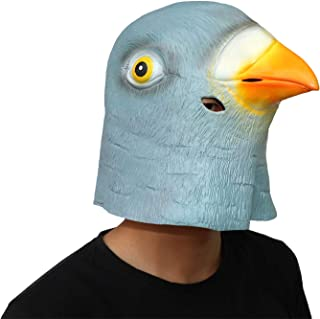 ifkoo Deluxe Novelty Pigeon Full Mask Halloween Costume Party Latex Birds Head Mask Blue