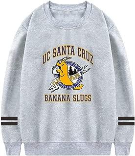KssKsa Men's UC Santa Cruz Banana Slugs Crewneck Sweatshirt Athletic Sweater Cotton Pullover