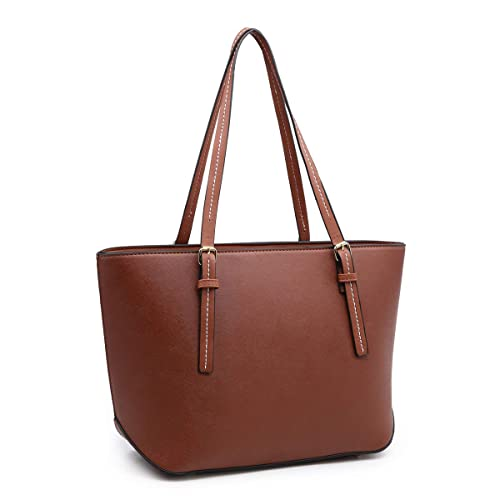 2ef44aa870c XB Handbags for Women, Laptop Tote Shoulder Bags Pu Leather Top Handle  Satchel Purse Lightweight