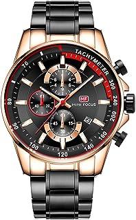 MINI FOCUS MF0218G Quartz Watch Business Men Simple Sport Wristwatch Three Sub-Dials Calendar Second Minute Display Timer ...